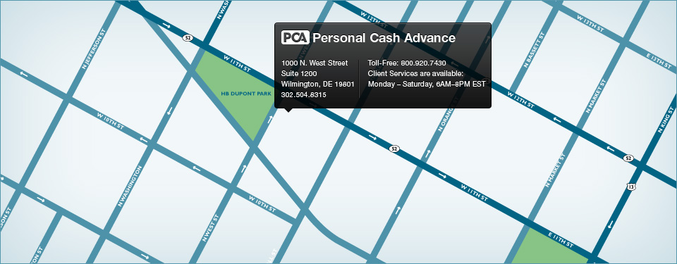 Personal Cash Advance Location